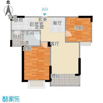 吉东托斯卡纳81.00㎡二期30号楼标准层H1户型