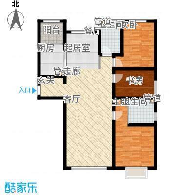 御龙湾140.10㎡小高A5-A7号楼标准层D3户型