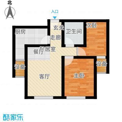 御龙湾74.60㎡B1B2号楼3-33层A1A2号楼3-25层B2户型