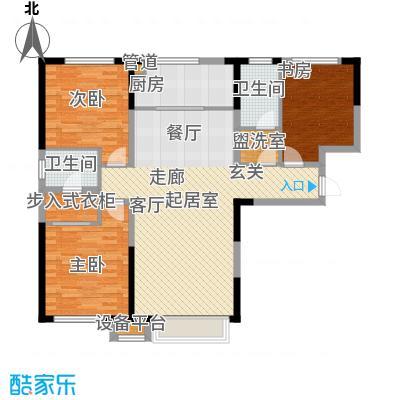 中海国际社区130.00㎡小高层5、8、6、12号楼标准层J户型