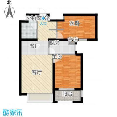 龙城帝景95.45㎡A5-B号楼标准层9545m2户型