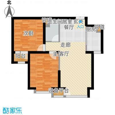 龙城帝景89.00㎡A1-B号楼标准层户型
