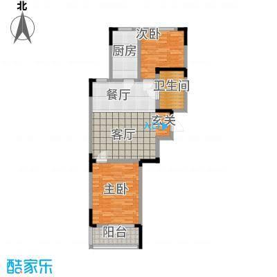 澳海澜郡78.00㎡二期小高层5#楼B3户型