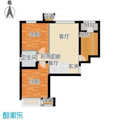 龙城帝景88.00㎡A9-A号楼标准层户型