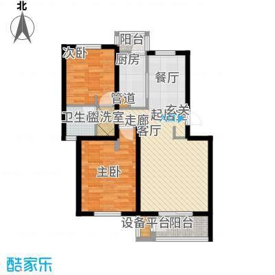 龙城帝景89.00㎡B102-2S4号楼标准层户型