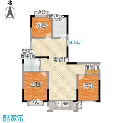 广弘城国际社区128.00㎡E户型