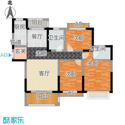 广弘城国际社区125.00㎡J户型