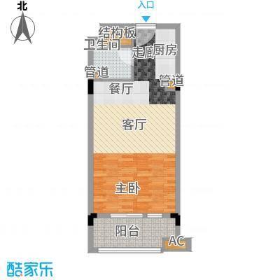 广弘城国际社区54.00㎡广弘城・小时代B4户型