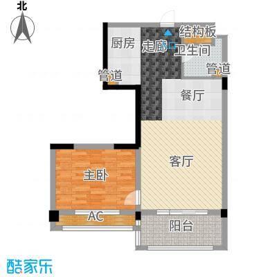 广弘城国际社区80.00㎡广弘城・小时代B3户型