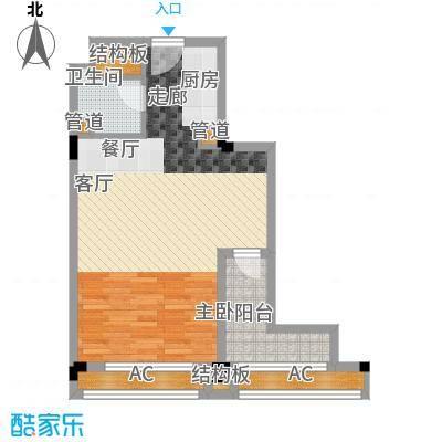 广弘城国际社区60.00㎡广弘城・小时代B4a户型