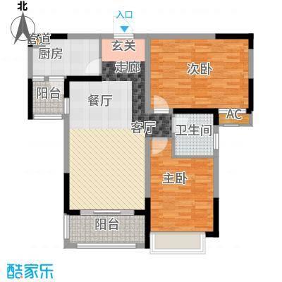 广弘城国际社区90.00㎡B户型