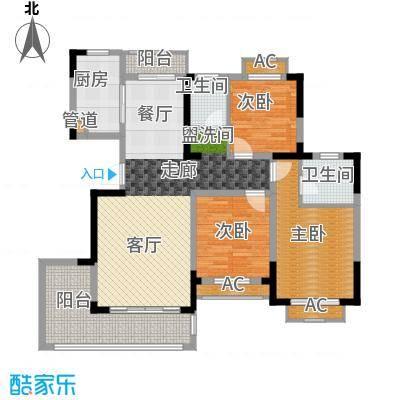 广弘城国际社区128.00㎡H户型