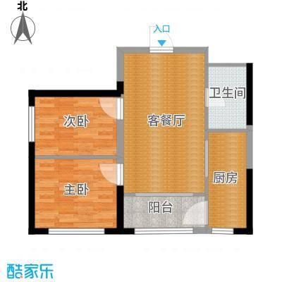 宏泽中央公园89.71㎡户型2室2厅1卫