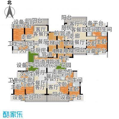 敏捷锦绣明珠105.00㎡敏捷・锦绣明珠14栋户型