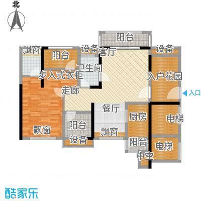 龙光海悦华庭87.49㎡2栋2单元01室户型