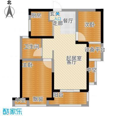 高速中央广场86.86㎡二期高层住宅E2户型