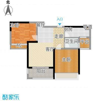 禹洲中央广场85.32㎡1-3A#楼B3户型