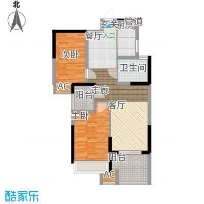 禹洲中央广场85.01㎡5、6、7#楼D3户型