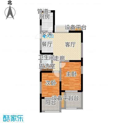 禹洲天境88.00㎡三期D6户型