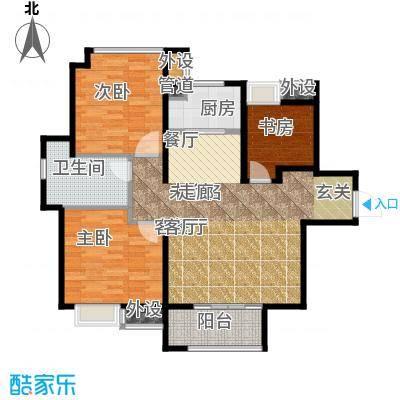 中铁滨湖名邸98.25㎡一期C1户型