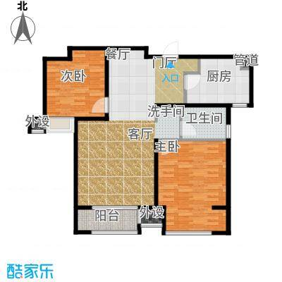 中铁滨湖名邸94.62㎡一期B2户型