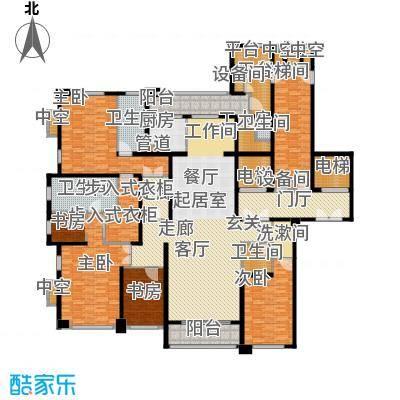 华润中心凯旋门320.00㎡平墅御风户型