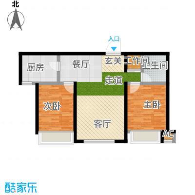 金地艺境85.00㎡高层22、30号楼D'户型