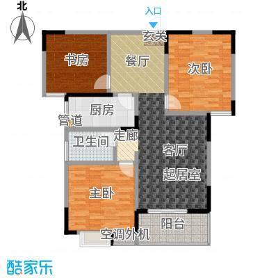 海泉时代广场100.59㎡海泉・时代广场D户型