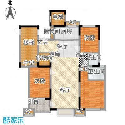 荣盛云龙观邸128.00㎡B2#B4#B6#东户户型