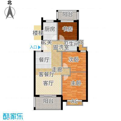 圣地雅格101.00㎡一期多层9#楼2层G1户型