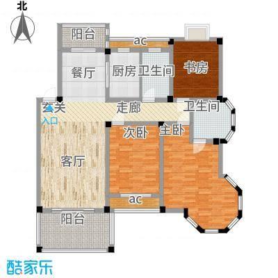 圣地雅格129.00㎡一期多层14#楼标准层K2户型