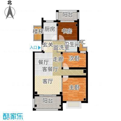 圣地雅格101.00㎡一期多层16#楼标准层K3户型