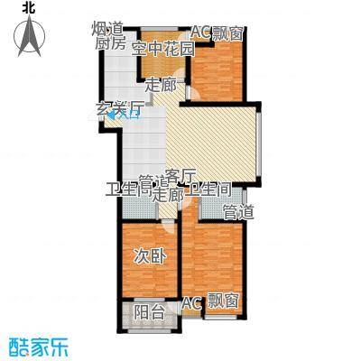 银湖花园144.00㎡2号楼1-30层边户E户型