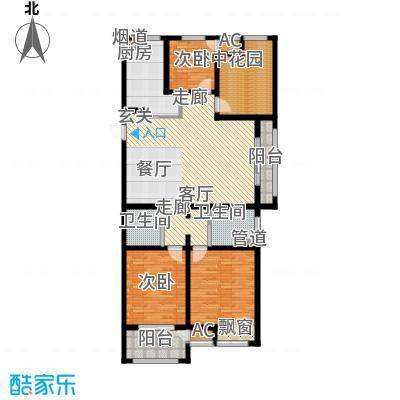 银湖花园134.00㎡4号楼、5号楼1-28层J户型