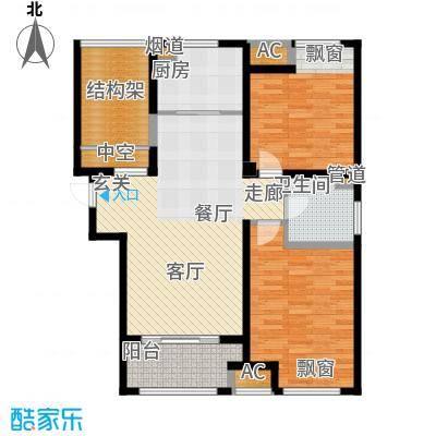 银湖花园101.00㎡9号楼、11号楼1-24层K户型