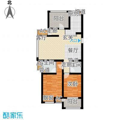 银湖花园90.00㎡1号楼、3号楼1-28层A户型