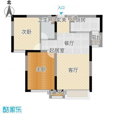 中海国际社区86.00㎡小高层A1、A2号楼标准层D户型