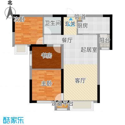 中海国际社区95.00㎡高层A11号楼/小高层5号楼标准层F户型