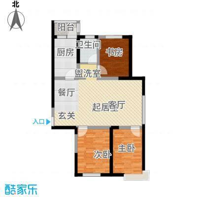 华荣泰时代COSMO109.56㎡二期3#住宅04户型