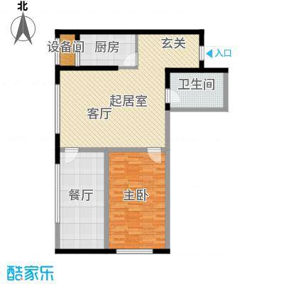 华荣泰时代COSMO78.00㎡一期6号楼智能SOHO-H户型
