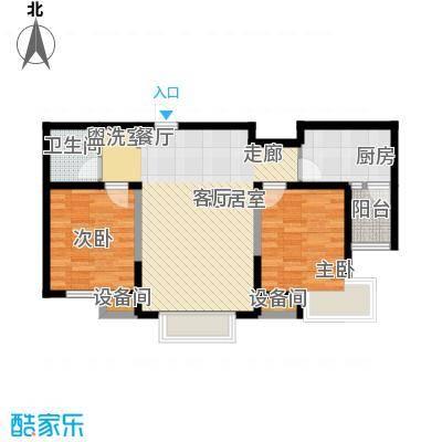 华荣泰时代COSMO90.00㎡一期1号楼B户型