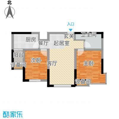 华荣泰时代COSMO80.78㎡二期3#住宅07户型
