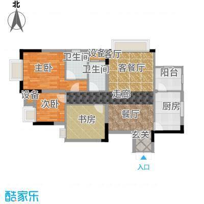 晋愉九龙湾88.82㎡A1(二期)面积8882m户型