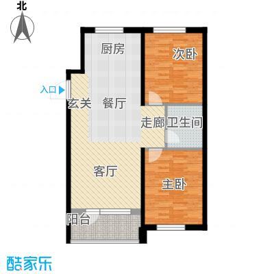 澳海澜苑89.00㎡高层D户型