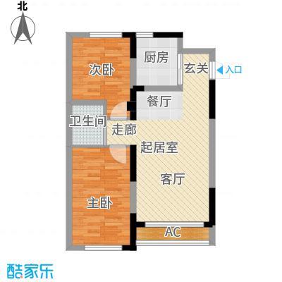 青旅福润家园86.42㎡2#、3#楼02户型