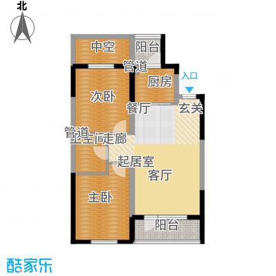澳海澜庭84.00㎡高层2/3/4号楼H-C2户型