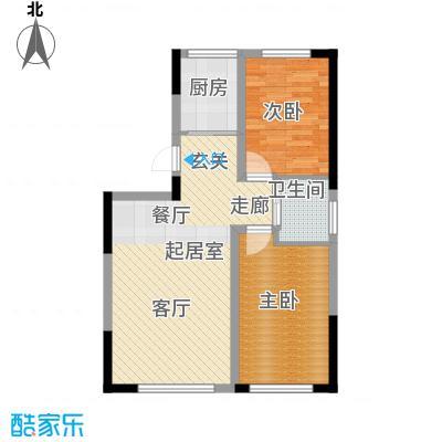 青旅福润家园86.97㎡2#、3#楼01户型
