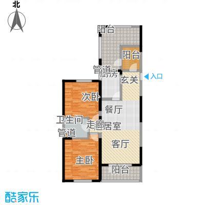 澳海澜庭109.00㎡高层2号楼H-E2户型