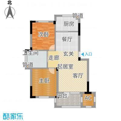 澳海澜庭85.00㎡三期16号楼D4户型