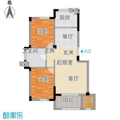 澳海澜庭85.00㎡二期21号楼D4户型